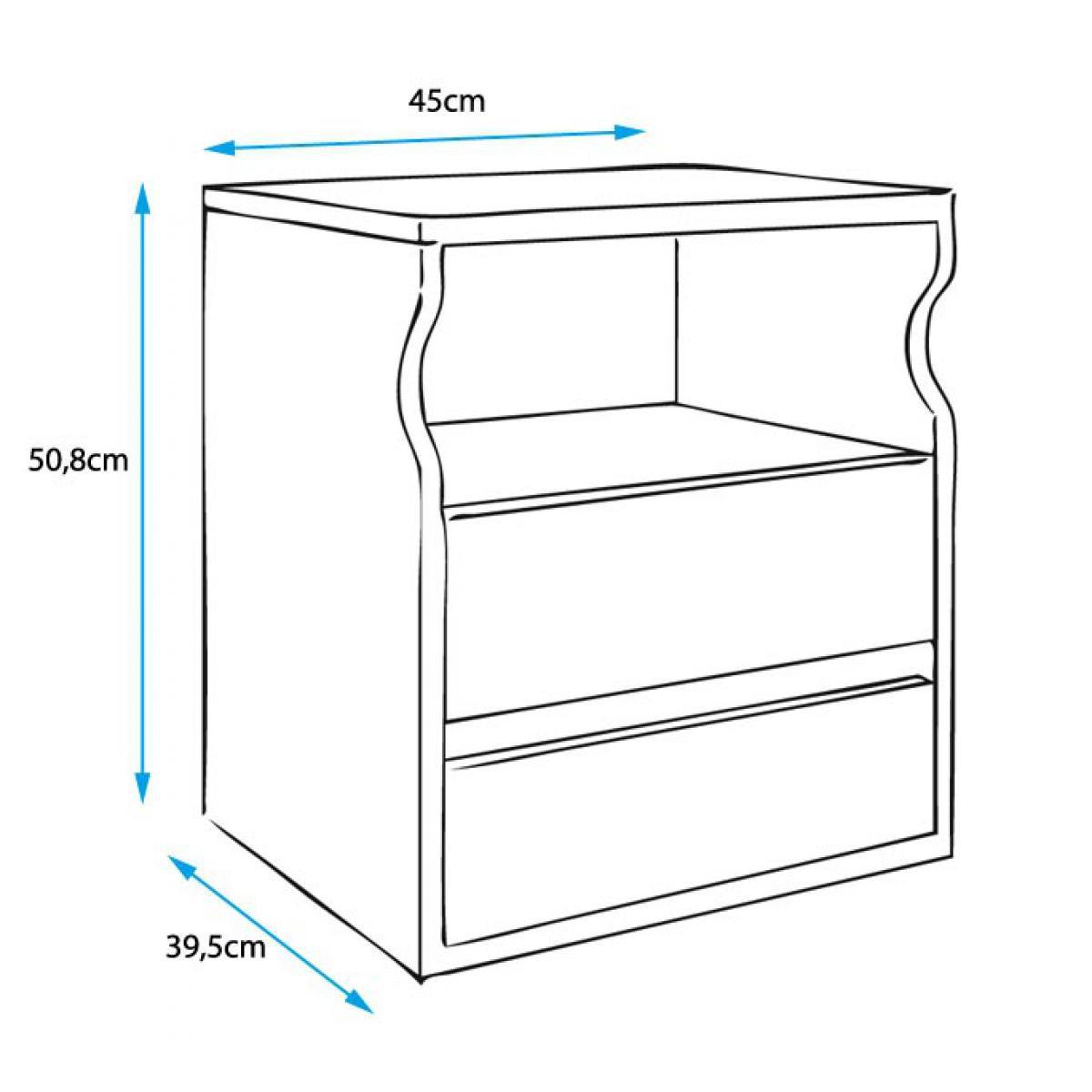 Design Ameublement Table de chevet Tamy blanc