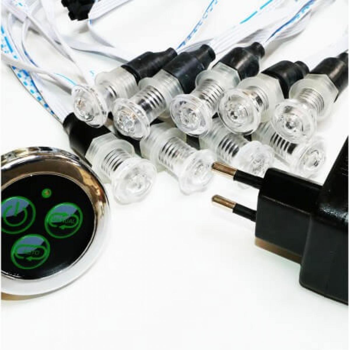 Desineo Lot de 9 luminaires chromothérapie étanches IP68 12V pour tous milieux humides