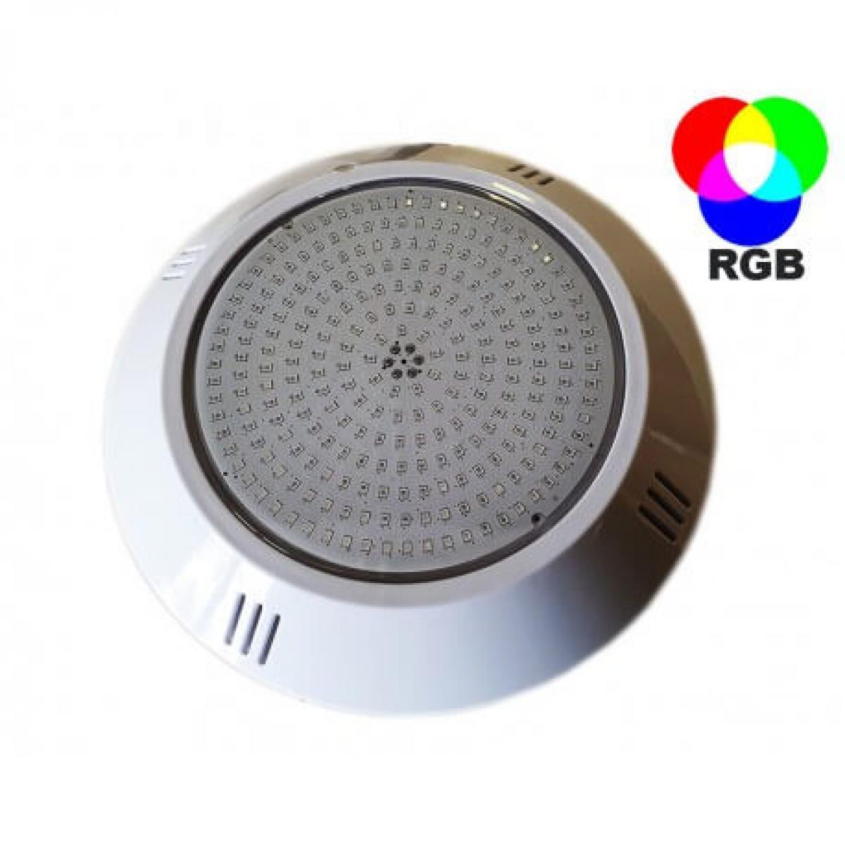 Desineo Projecteur LED RGB extra-plat à résine injectée pour piscine 252 LED (sans télécommande)