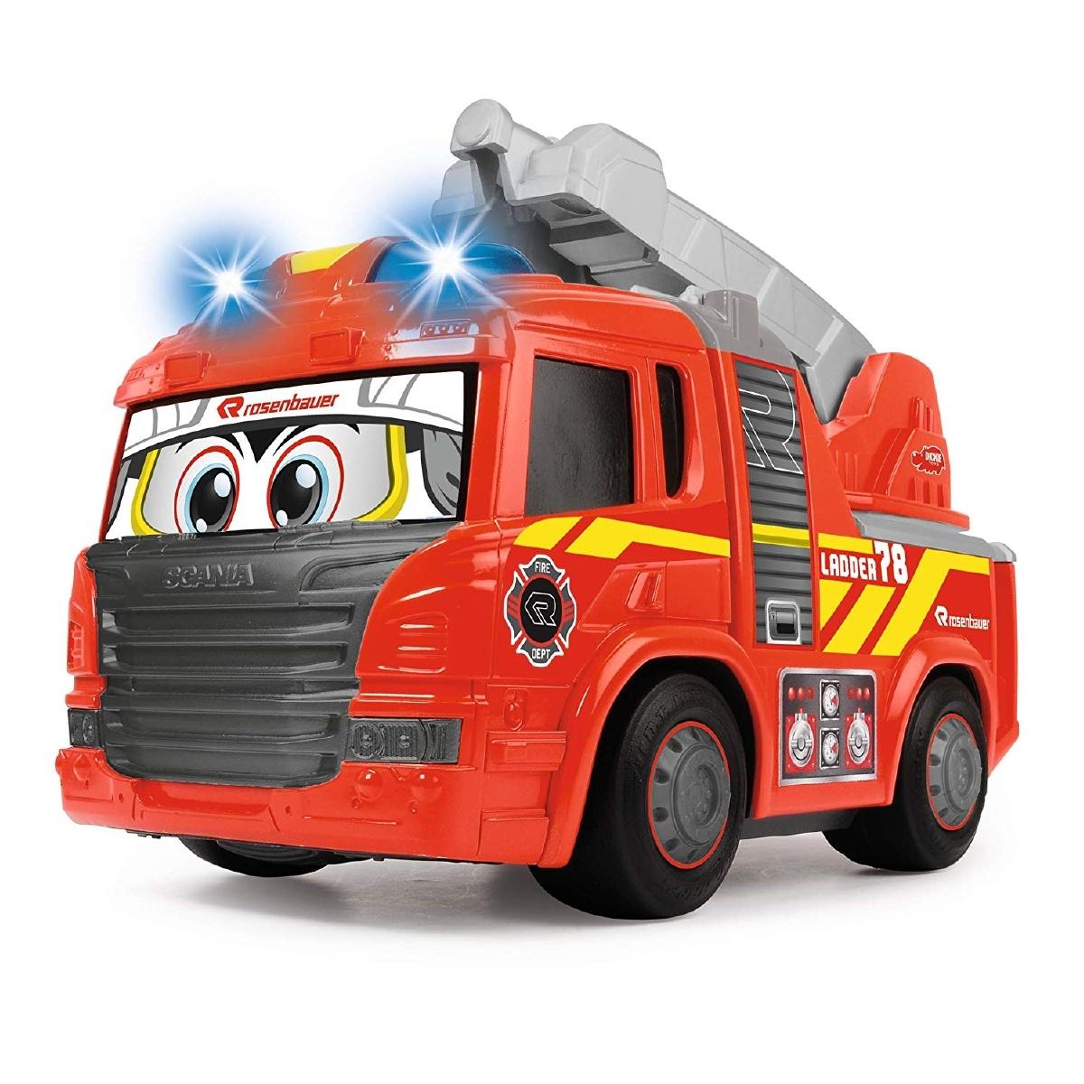 Dickie Dickie 203814016 - Happy Fire Truck Voiture de Pompier motorisée avec lumière et Son