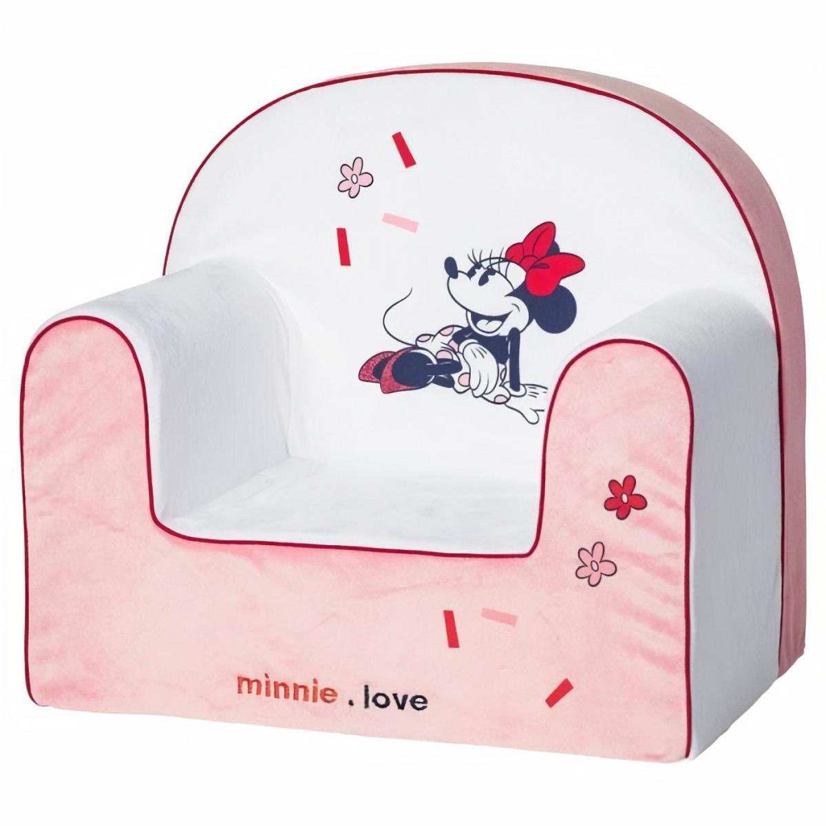 Disney DISNEY Fauteuil classic déhoussable Minnie confettis - 25 cm - Velours 100% polyester