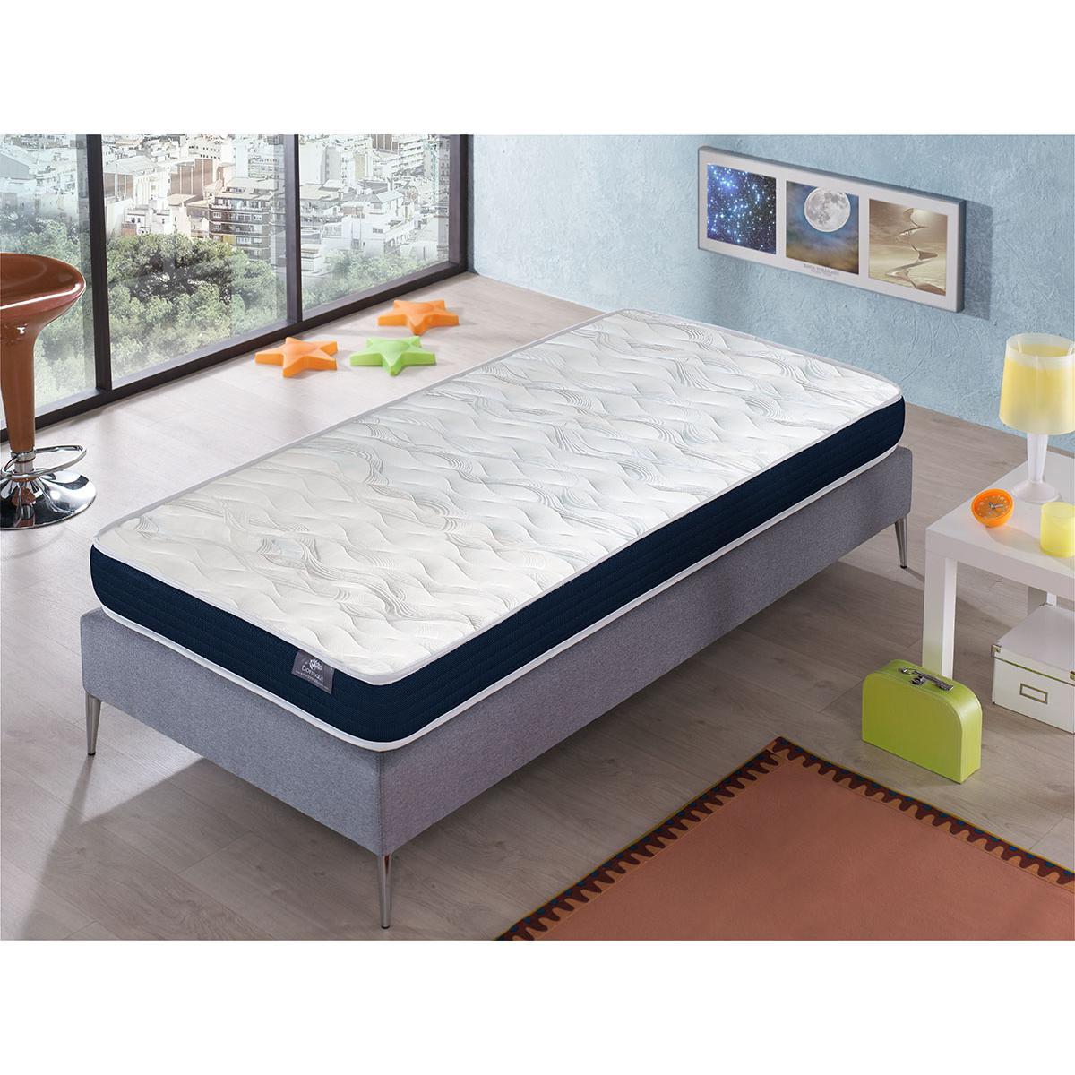 Dormalit Matelas 100X200 ERGO CONFORT Épaisseur 14 CM ? Rembourrage super soft - Juvénil - idéal pour les lits gigognes