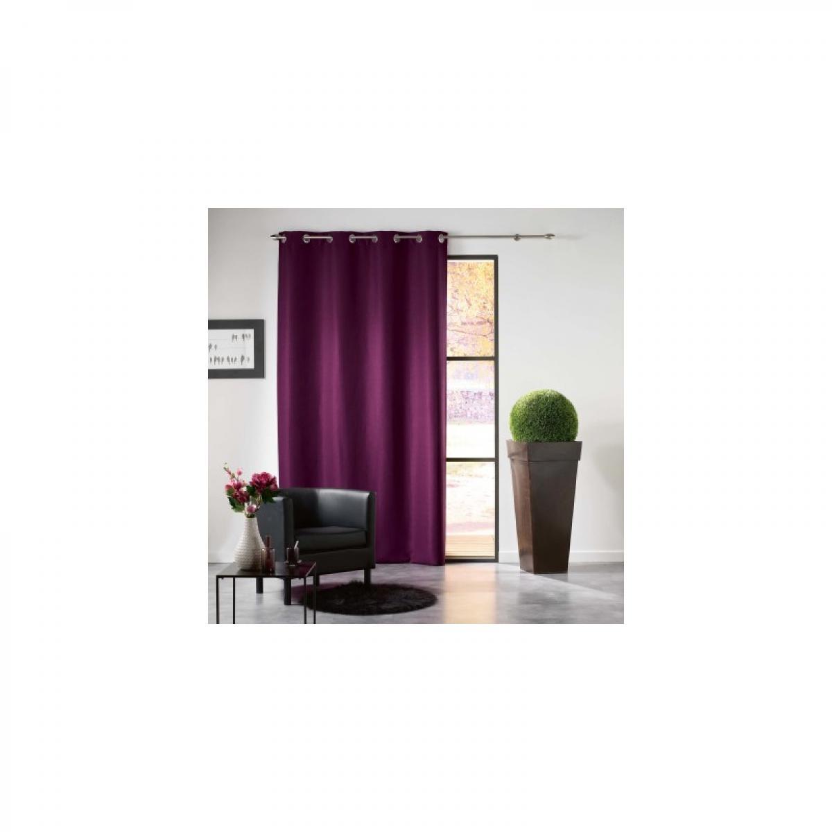 Douceur D'Interieur Rideau à oeillets 140 x 240 cm - Occultant uni - Mezzo - Violet