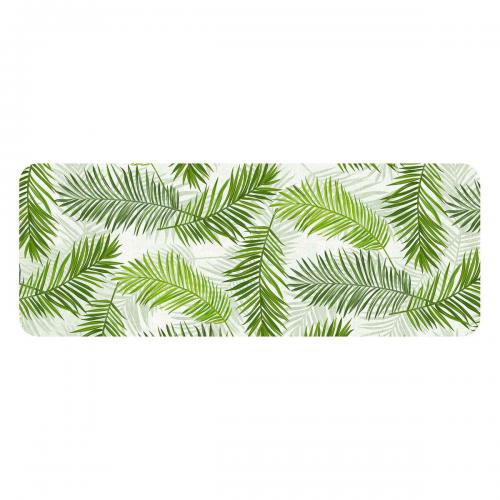 Douceur D'Interieur - Tapis mousse rectangle 45x120 cm Green feuilles - Douceur D'Interieur