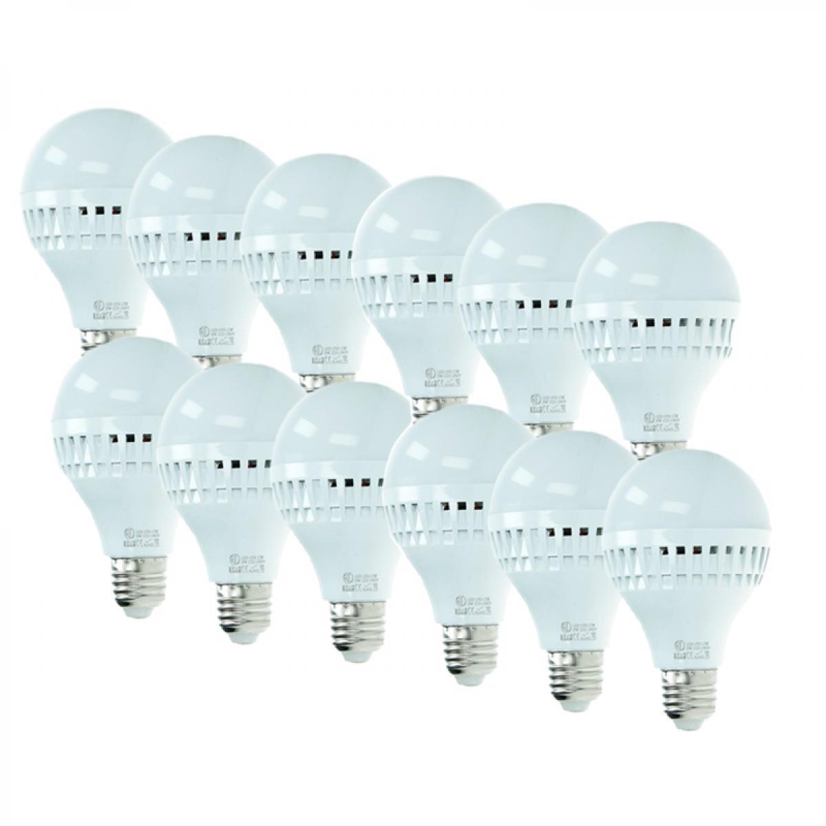 Ecd Germany ECD Germany 12x Ampoule LED E27 9W 240V 584 lumens Remplace les lampes halogènes de 60W blanc chaud Lampe economie d'en