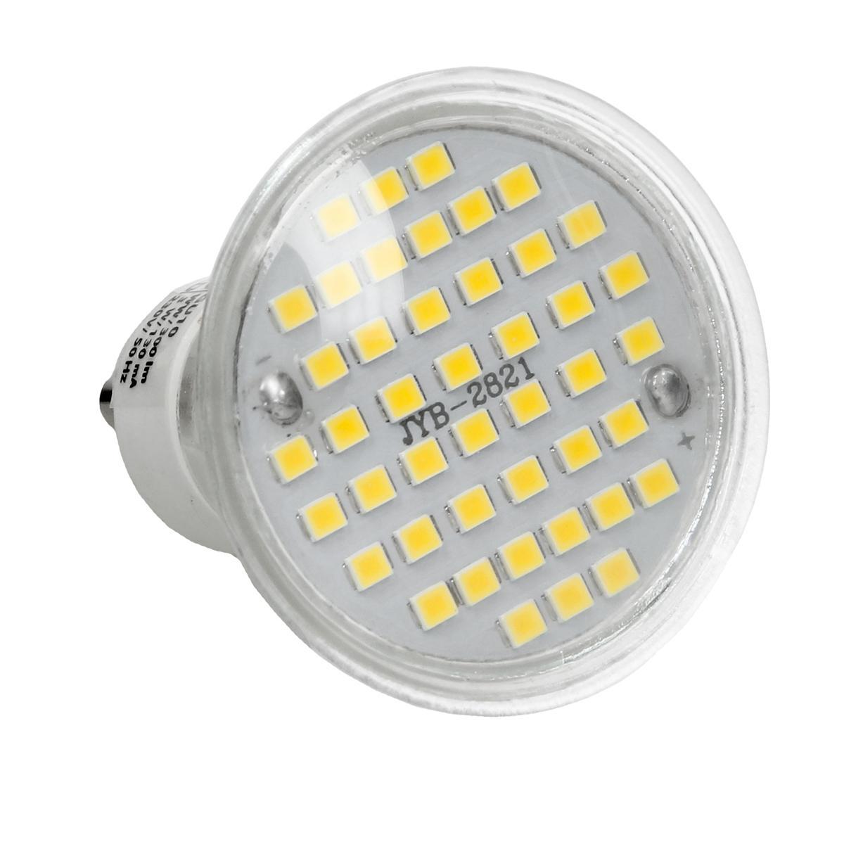 Ecd Germany ECD Germany 20 x LED GU10 44SMD Spot 3W - Lampe à LED 20W - en verre - 251 lumens - Blanc chaud 3000K - Spot à encastrer