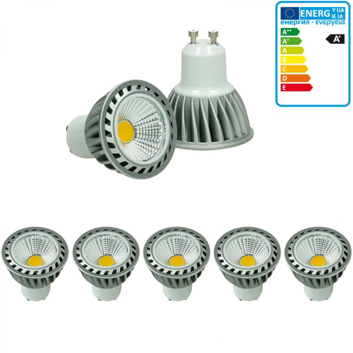 Ecd Germany ECD Germany 5 Pack 4W GU10 LED Spot remplace 20W Halogène 220-240V 60 ° Angle de faisceau 243 Lumens 2800K Chaud Blanc A