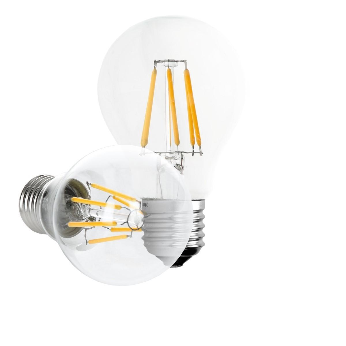 Ecd Germany ECD Germany 5 x LED Filament de l'ampoule E27 classique Edison 6W 612 lumens angle de faisceau 120 ° AC 220-240 reste ca