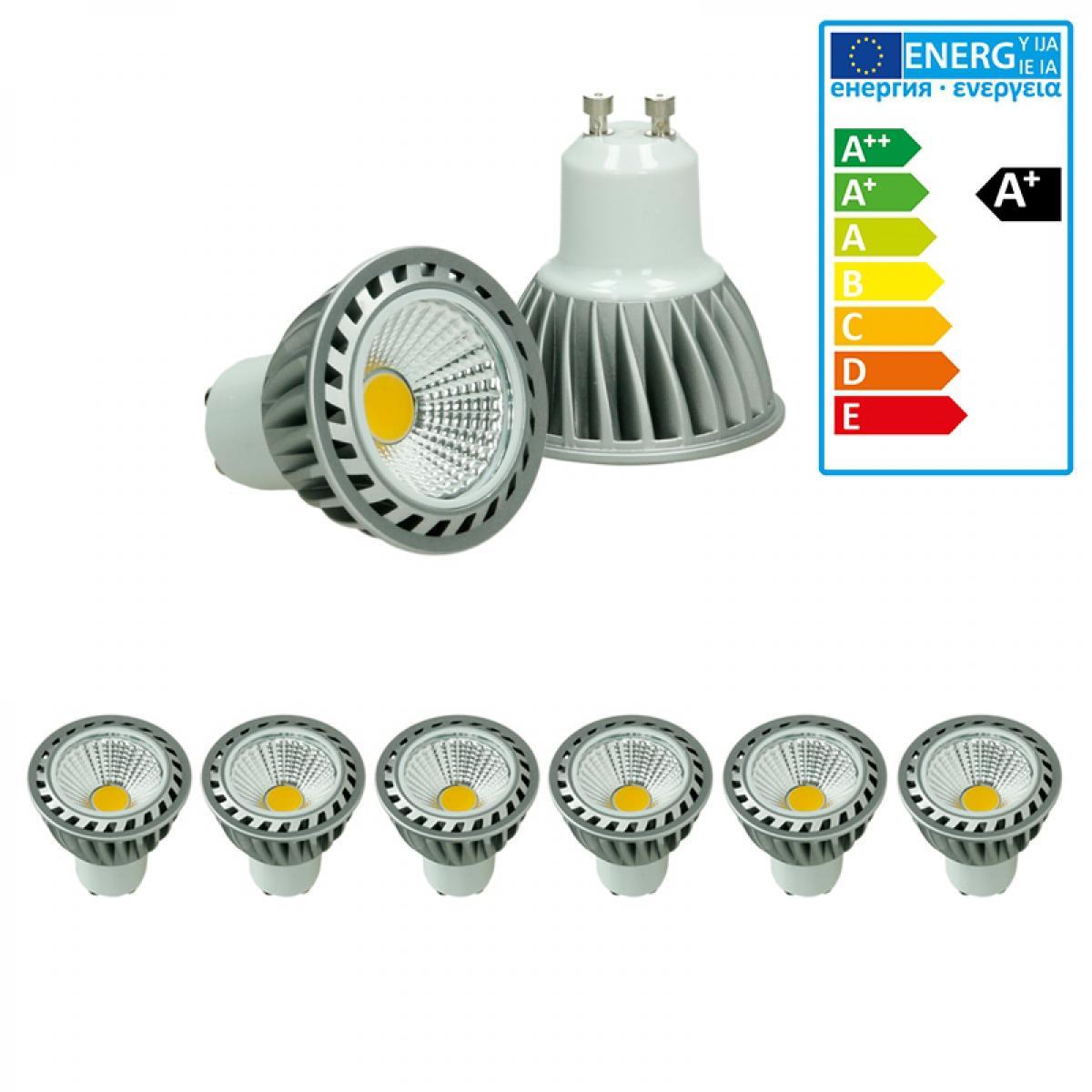 Ecd Germany ECD Germany 6-Pack 4W GU10 LED Spot Remplace 20W Halogène 220-240V 60 ° Angle de faisceau 243 Lumen 2800K Chaud Blanc Am