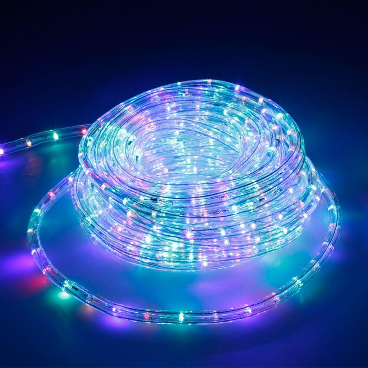 Ecd Germany ECD Germany LED RGB Tube Lumière Guirlande 20m - 23 W CA 220-240V - 1407 Lumens - Bandes de LED de Noël pour Intérieur /