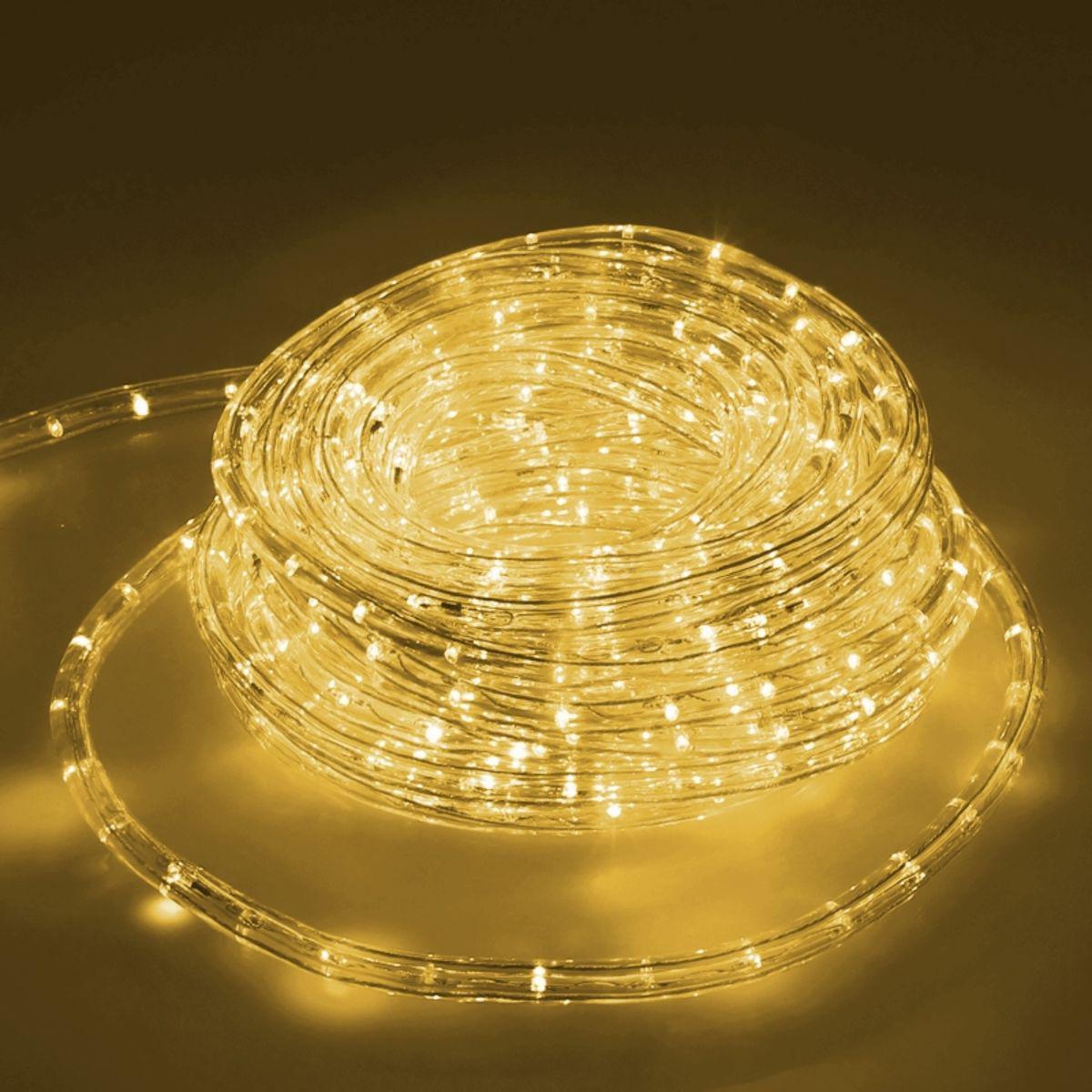 Ecd Germany ECD Germany LED Tube Lumière Guirlande 10m - 12W AC - 220-240V - Blanc chaud 3000K - 791 Lumens - Bandes de LED de Noël