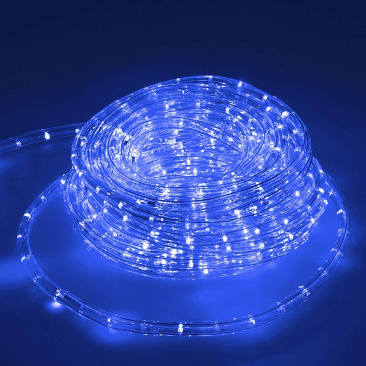 Ecd Germany ECD Germany LED Tube Lumière Guirlande 10m Bleu - 11 W CA 220-240V - Bandes de LED de Noël pour Intérieur /Extérieur - I