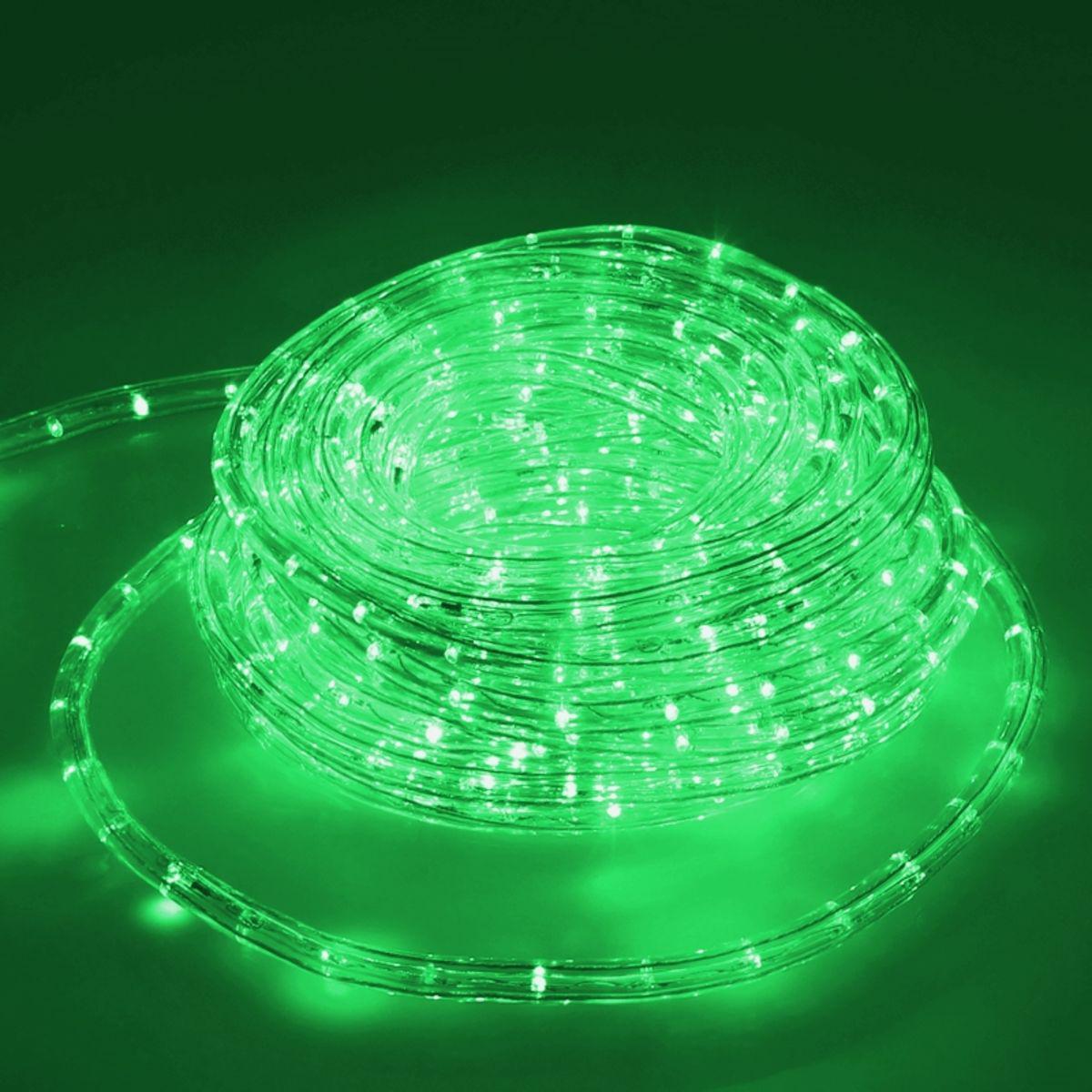 Ecd Germany ECD Germany LED Tube Lumière Guirlande 10m Vert - 22 W CA 220-240V - Bandes de LED de Noël pour Intérieur /Extérieur - I