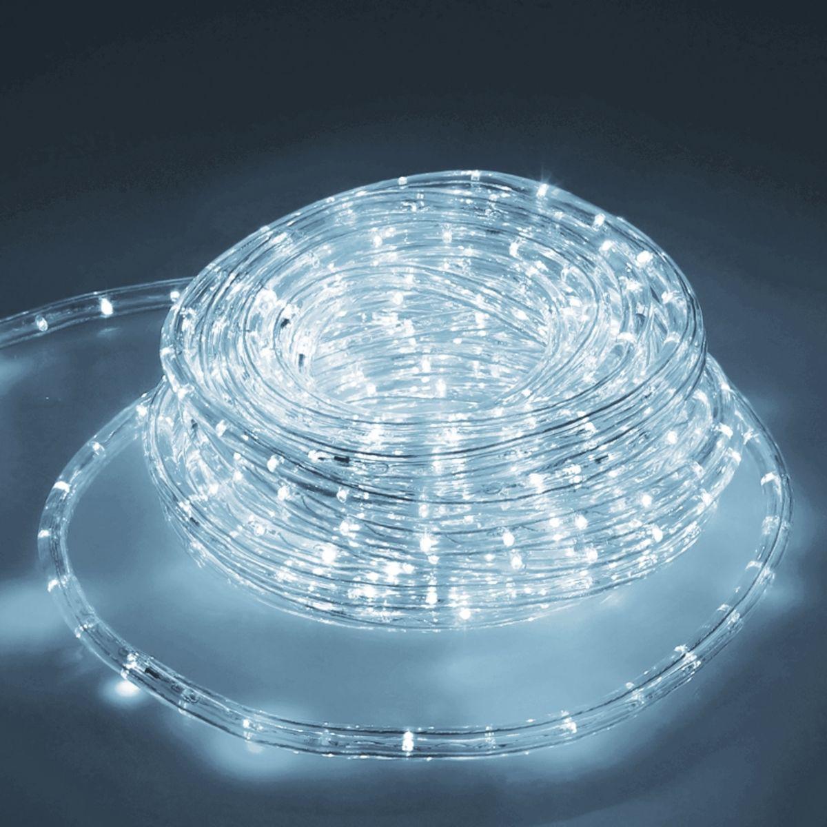 Ecd Germany ECD Germany LED Tube Lumière Guirlande 20m - 12W CA - 220-240V - Blanc froid 6000K - 791 Lumens - Bandes de LED de Noël