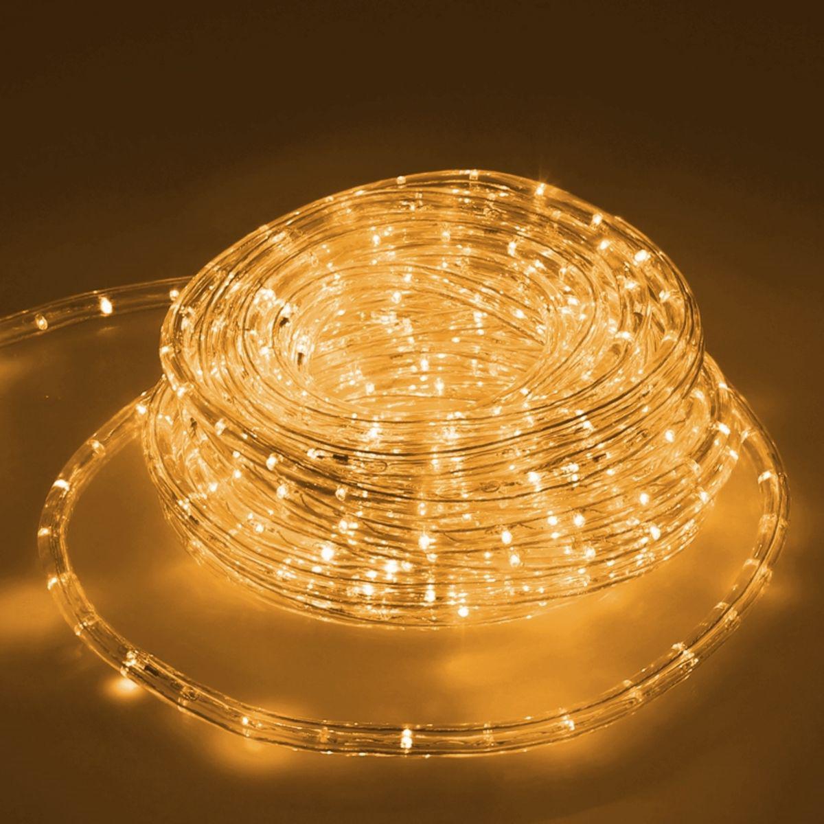 Ecd Germany ECD Germany LED Tube Lumière Guirlande 20m Jaune - 22 W CA 220-240V - Bandes de LED de Noël pour Intérieur /Extérieur -