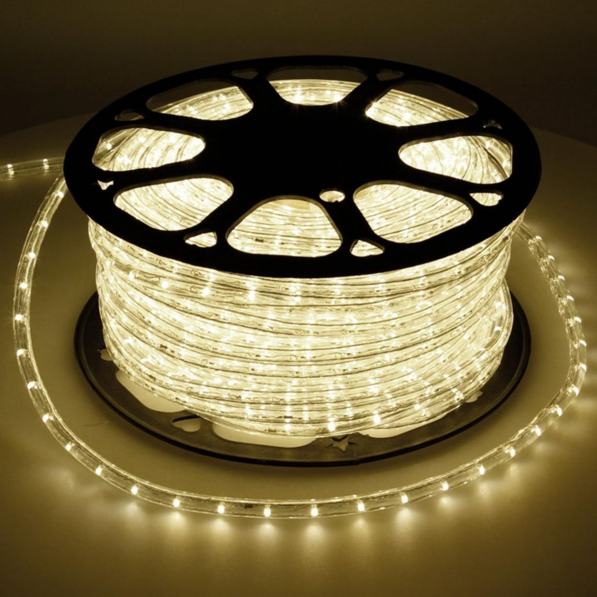 Ecd Germany ECD Germany LED Tube Lumière Guirlande 30m - 12W CA - 220-240V - Blanc chaud 3000K - 791 Lumens - Bandes de LED de Noël
