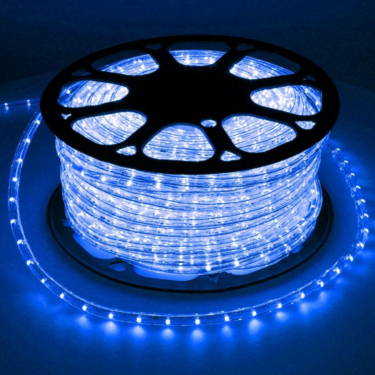 Ecd Germany ECD Germany LED Tube lumière guirlande 50m bleu avec adaptateur protection IP44 36 lampes à LED par mètre non dimmable t