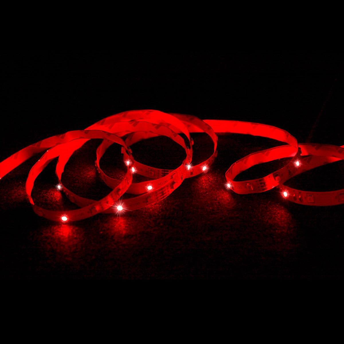 Ecd Germany ECD Germany Set 1x 20m (4x5m) Bande de LED RGB blanc SMD 3528 + 1x Transformateur 5A 60W 12V câble pour prise EU + 1x Té