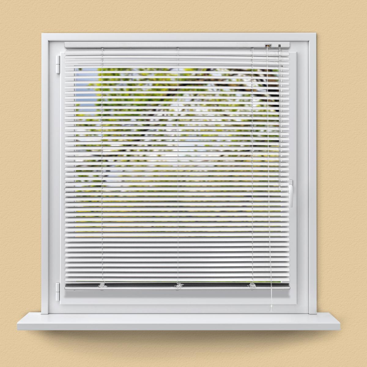 Ecd Germany ECD Germany Store Vénitien Aluminium 100 x 220 cm - Blanc - Ailettes en aluminium - Protection visible, légère et anti-é