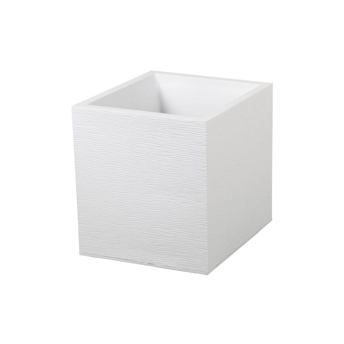 Eda EDA Pot carré Graphit - 39 x 39 x 43 cm - Contenance 35 L - Blanc cérusé