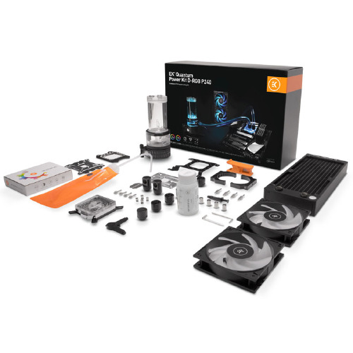 Ek Water Blocks - EK-Quantum Power Kit D-RGB P240 Kit complet - Watercooling
