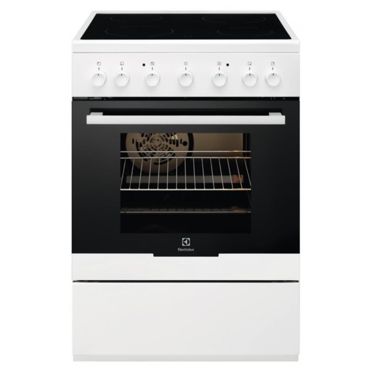 Electrolux Cuisinière Vitrocéramique Electrolux EKC61360OW 60cm 54L blanc