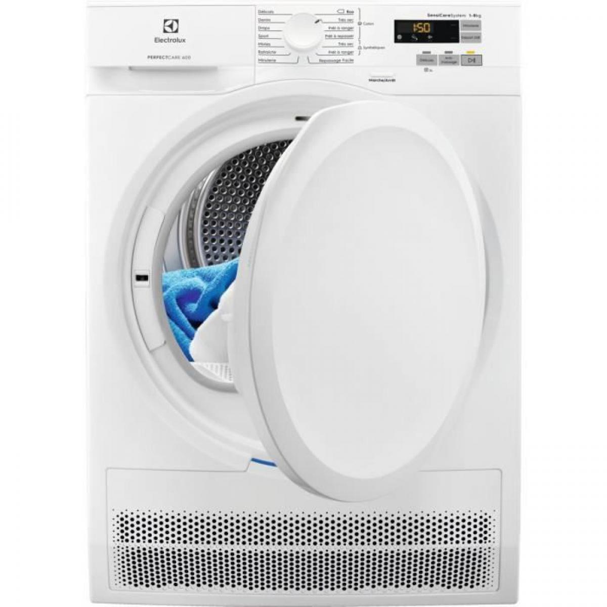 Electrolux Sèche-linge à condensation 8kg ELECTROLUX 60cm, ELEEW6C5822CB