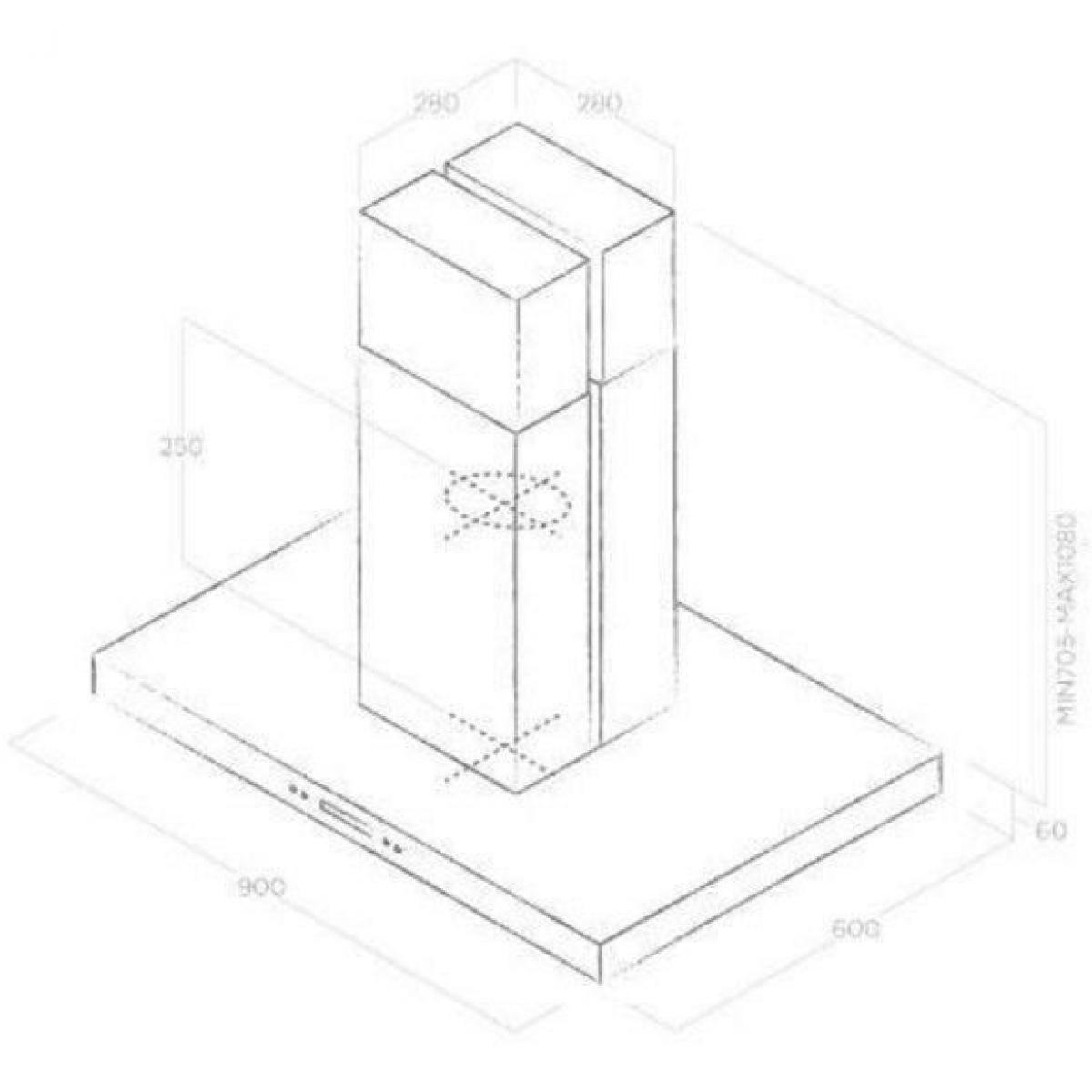 Elica Hotte décorative 700m³/h ELICA 60cm A, ELI8020283048720