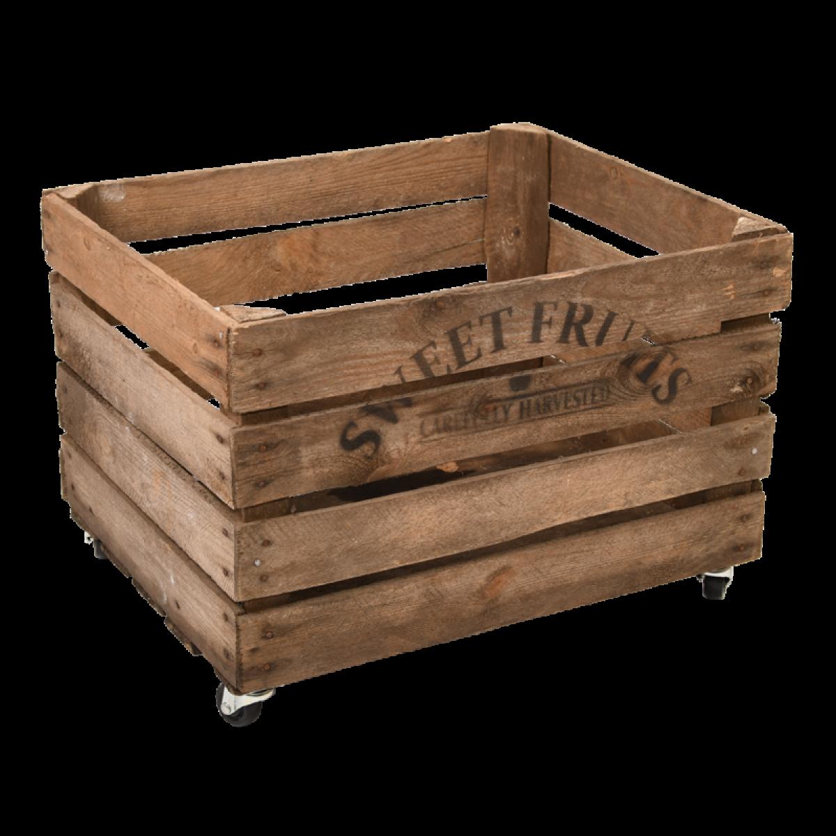 Esschert Design Cageot de pommes - L 40 x l 49,5 x H 35,2 cm - Bois