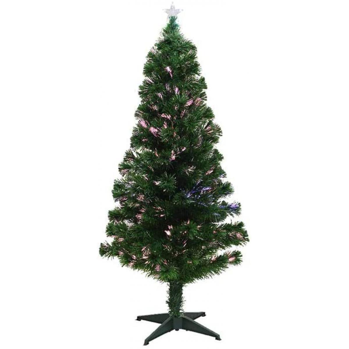 Everlands Sapin de Noël en fibre optique 120cm 20leds