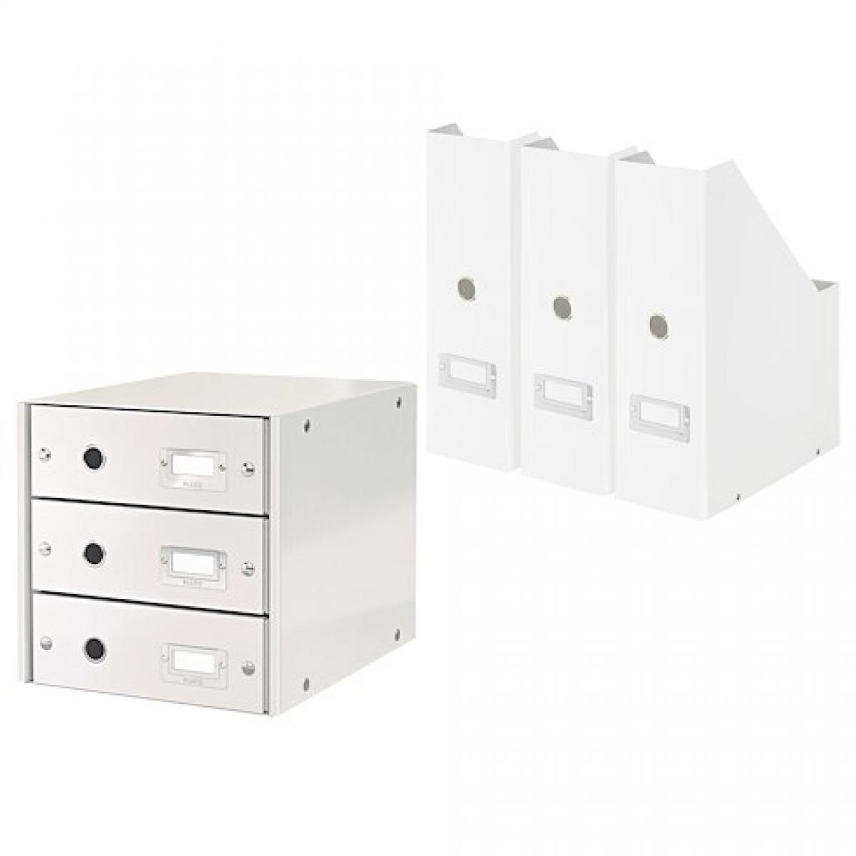 Exacompta Pack module de classement + 3 range-revues Exacompta Offissimo blancs