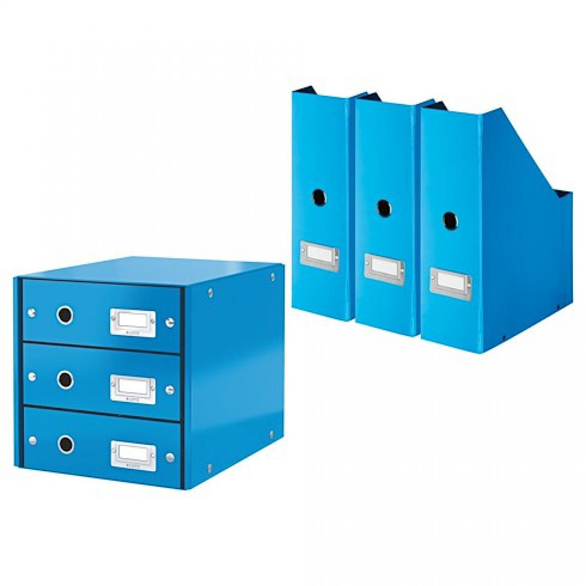 Exacompta Pack module de classement + 3 range-revues Exacompta Offissimo bleus