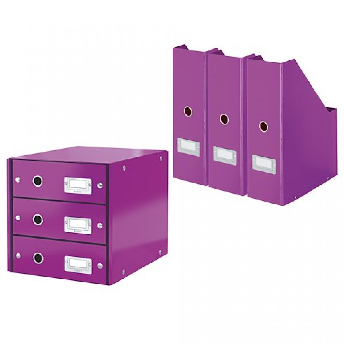 Exacompta Pack module de classement + 3 range-revues Exacompta Offissimo violets