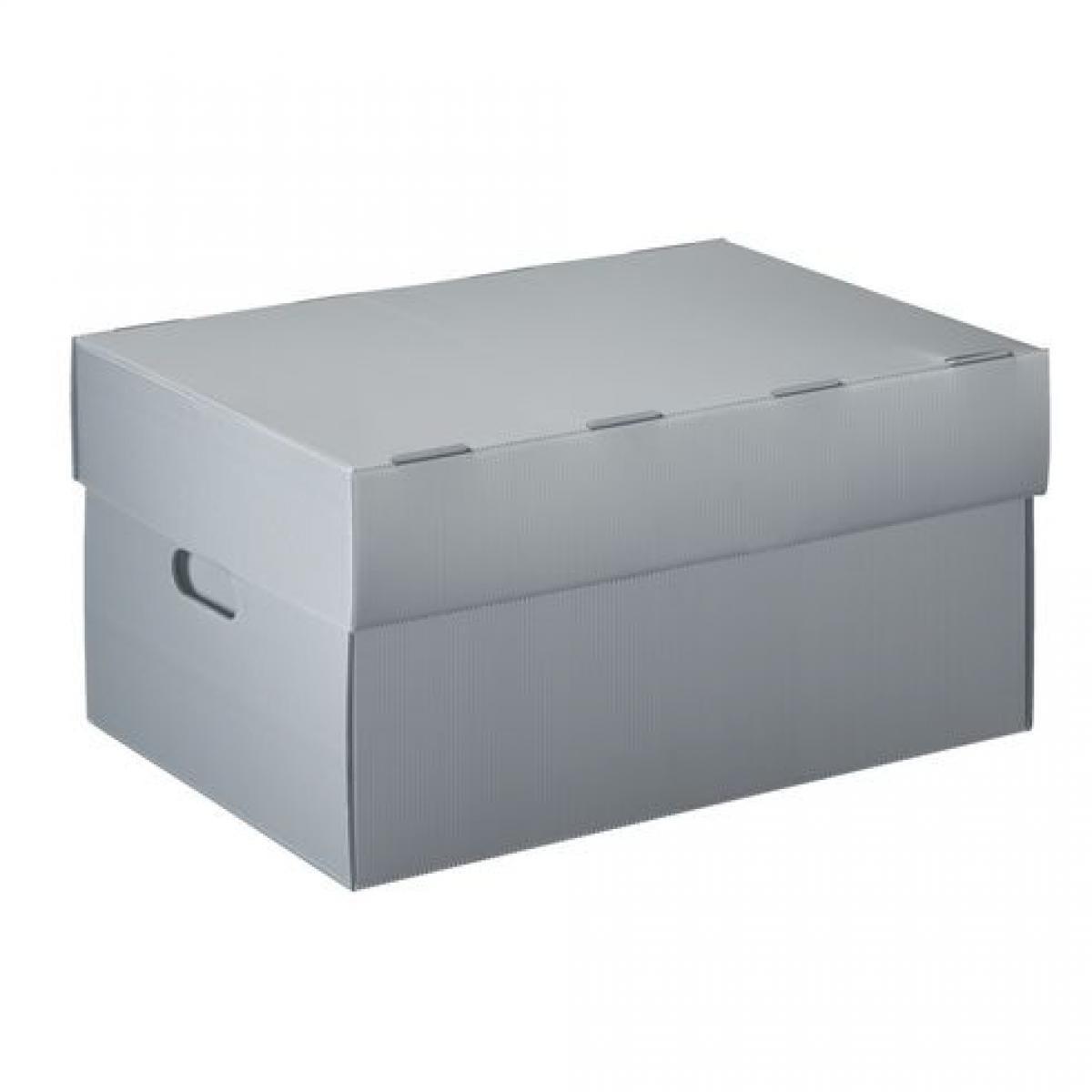 Extendos Caisse à archives plastique Extendos H 26 x L 52 x P 36 cm grise - Lot de 10