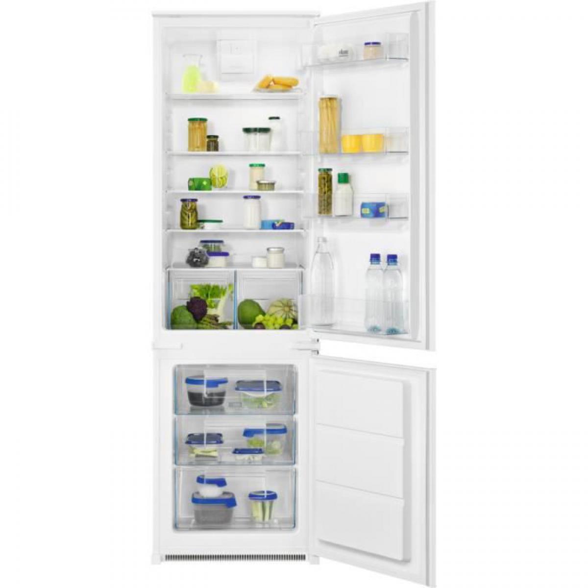 Faure FAURE FNFN18FS1 - Réfrigérateur congélateur bas encastrable - 267L (195+72) - Froid Brassé Statique - A+ - L 56cm x H 17