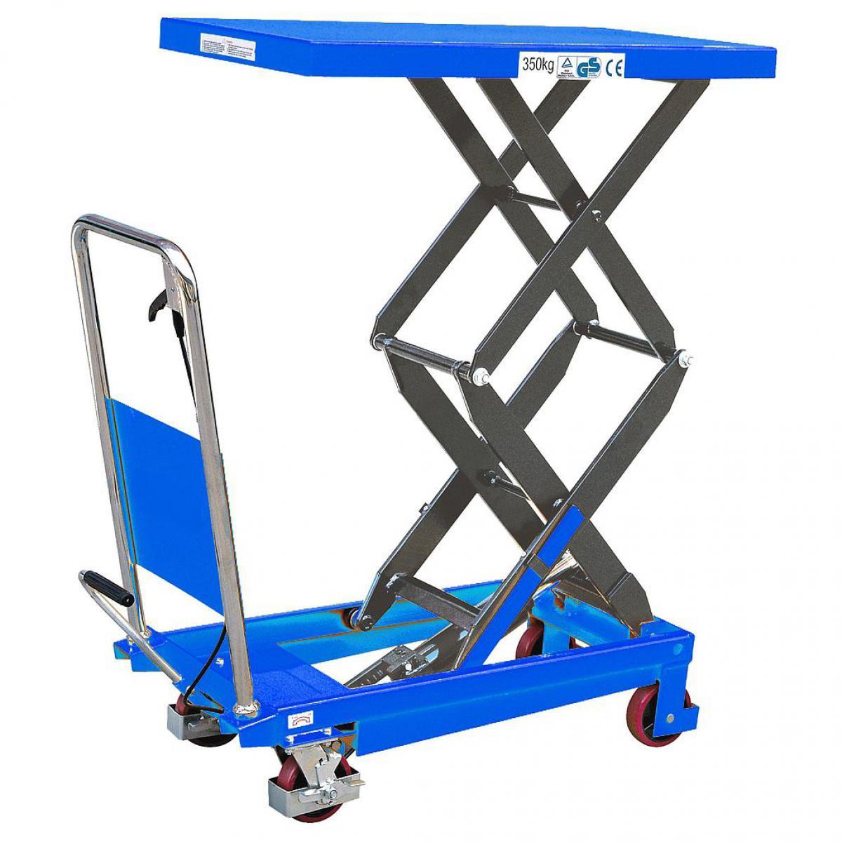 Fimm Fimm - Table élévatrice manuelle double ciseaux charge 150 kg Ø roues 100 mm