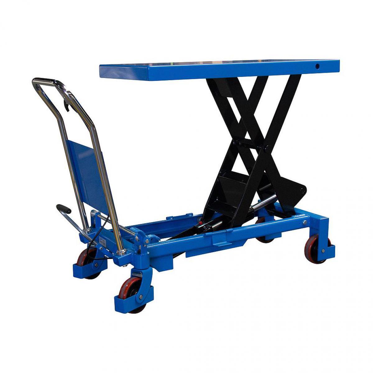 Fimm Fimm - Table élévatrice manuelle simple ciseaux charge 800 kg Ø roues 127 mm