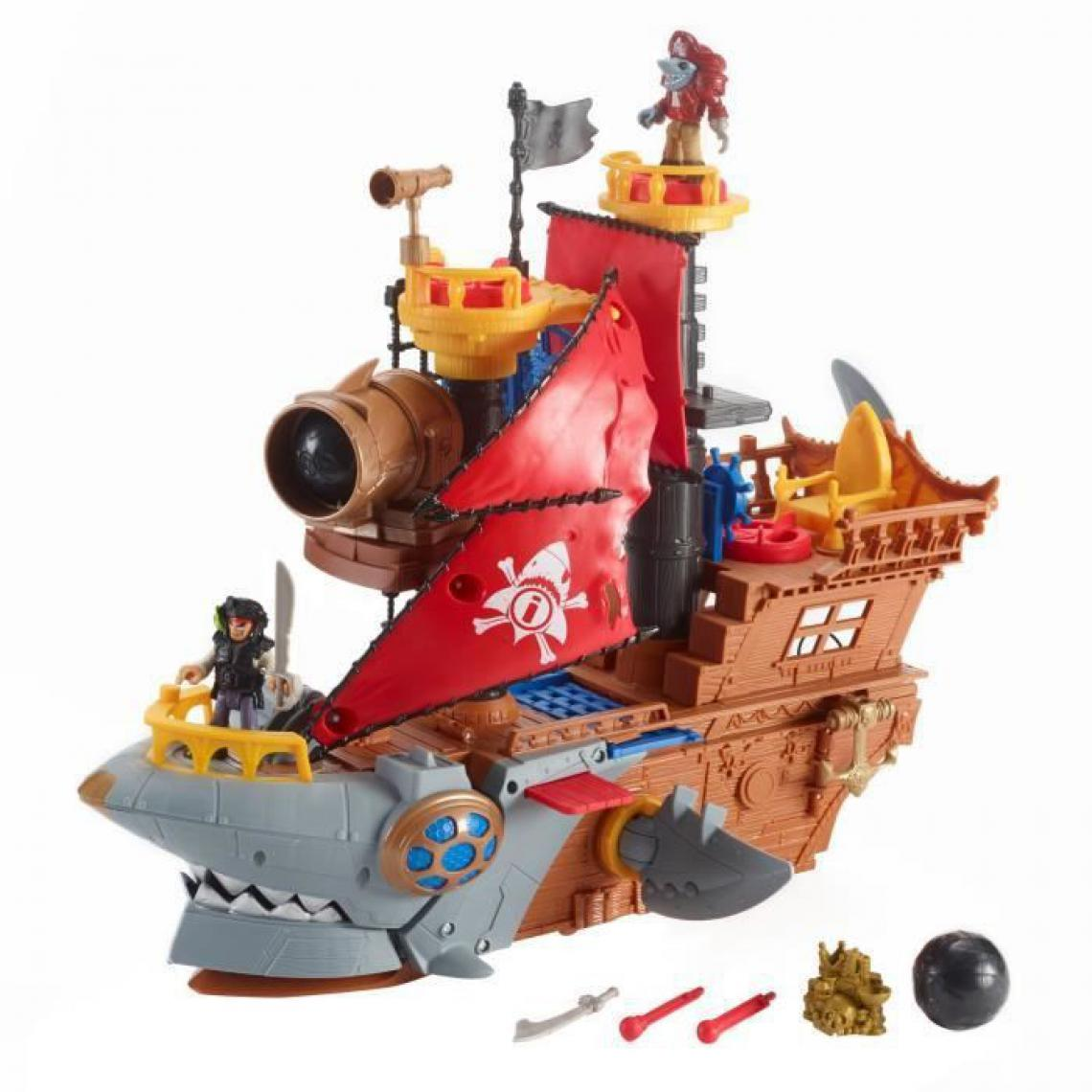 Fisher Price FISHER-PRICE Imaginext Bateau Pirate Requin - 3 ans et +