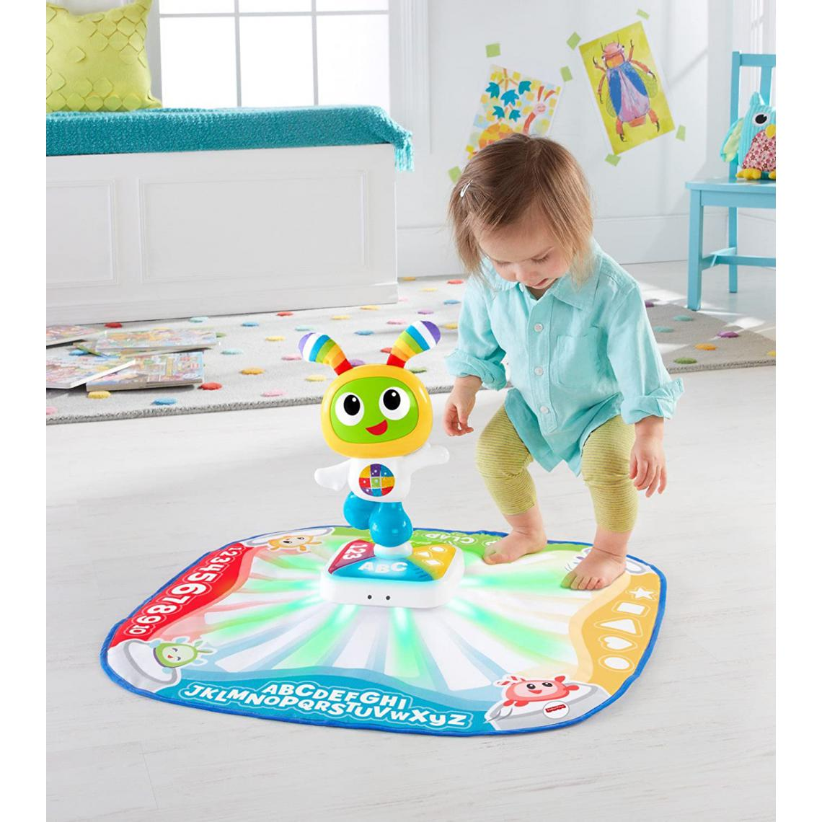 Fisher Price Tapis de danse musical et interactif avec 2 Modes pour bébé de 9 mois et plus
