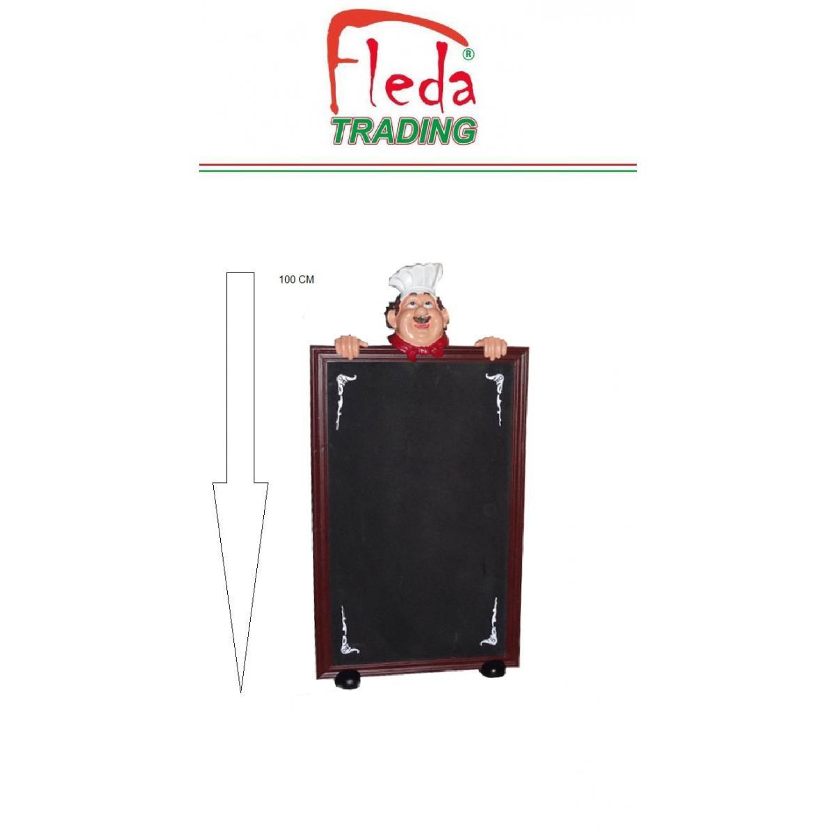 Fleda Trading Tableau noir simple chevalet Mark Menu 100x50