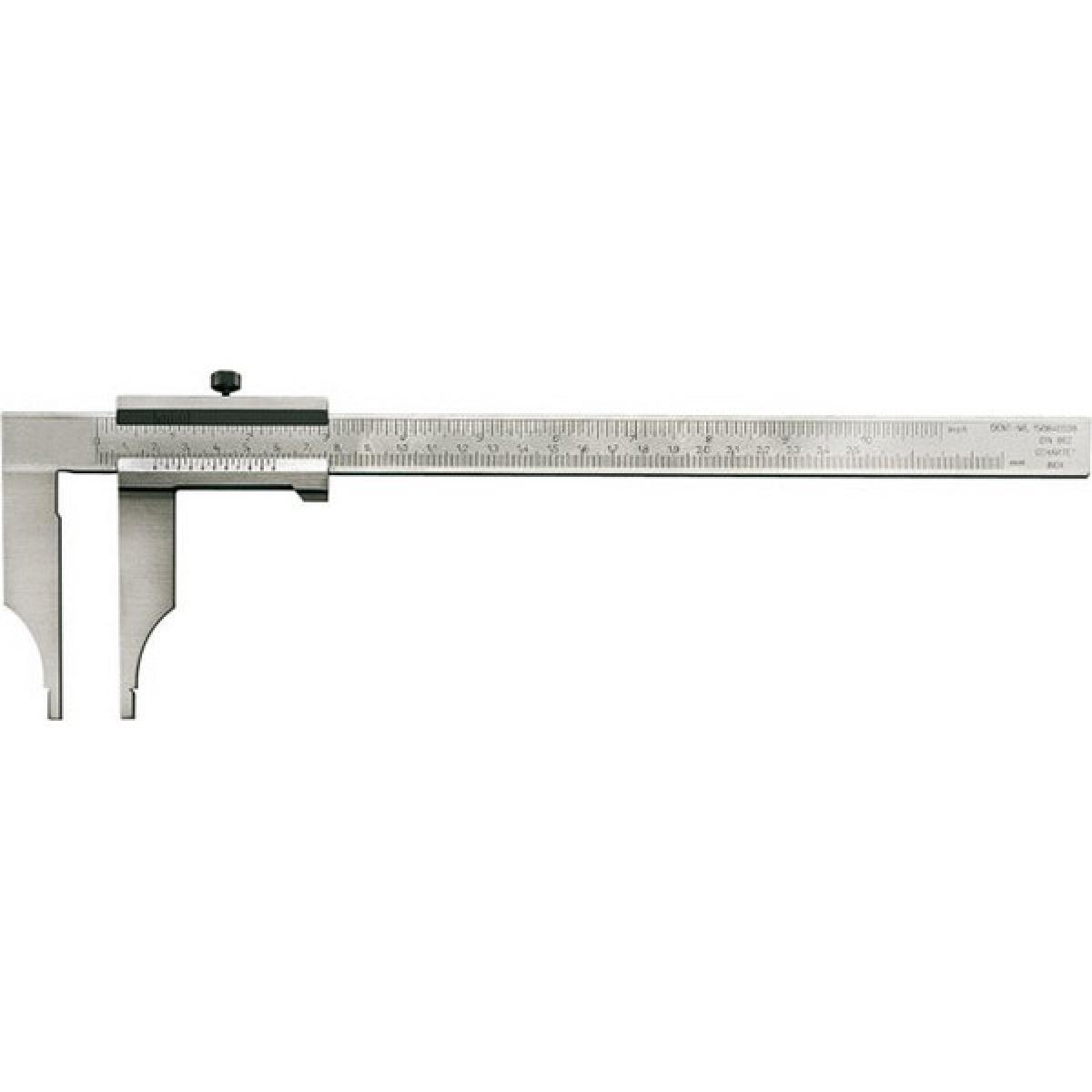 Forum Pied à coulisse d'atelier sans pointes de lames, sans réglage fin, Plage de mesure : 500 mm, Long. des becs 150 mm