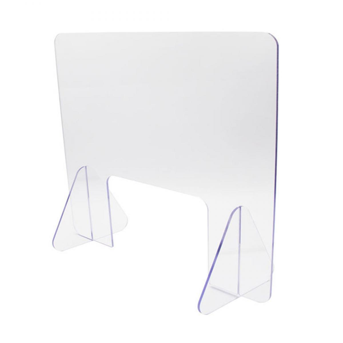 Generic Desktop Guard Shield Panneau de protection anti-pulvérisation Barrière de séparation en acrylique transparent 15,7 x 15,