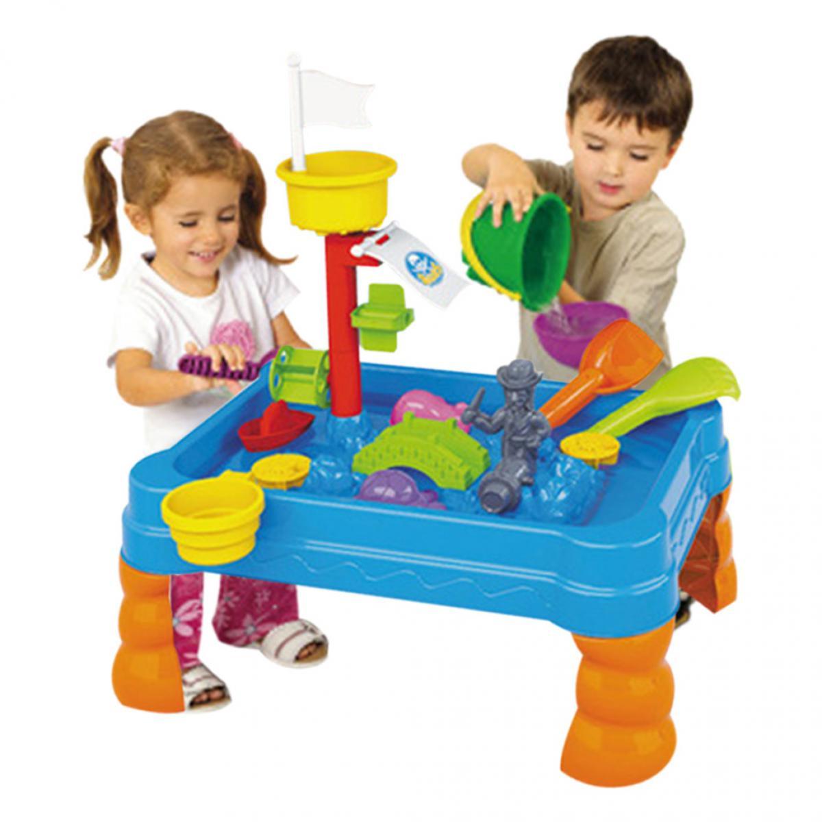 Generic Table à sable et à eau Arrosoir et pelle Ensemble de jouets pour bac à sable pour jardin extérieur pour enfants B