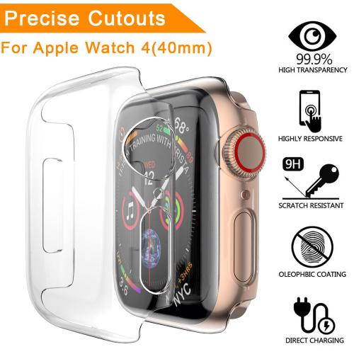 Generic - Ultra mince PC Clear Cases Housse de protection pour Apple Watch 4 40mm - Objets connectés