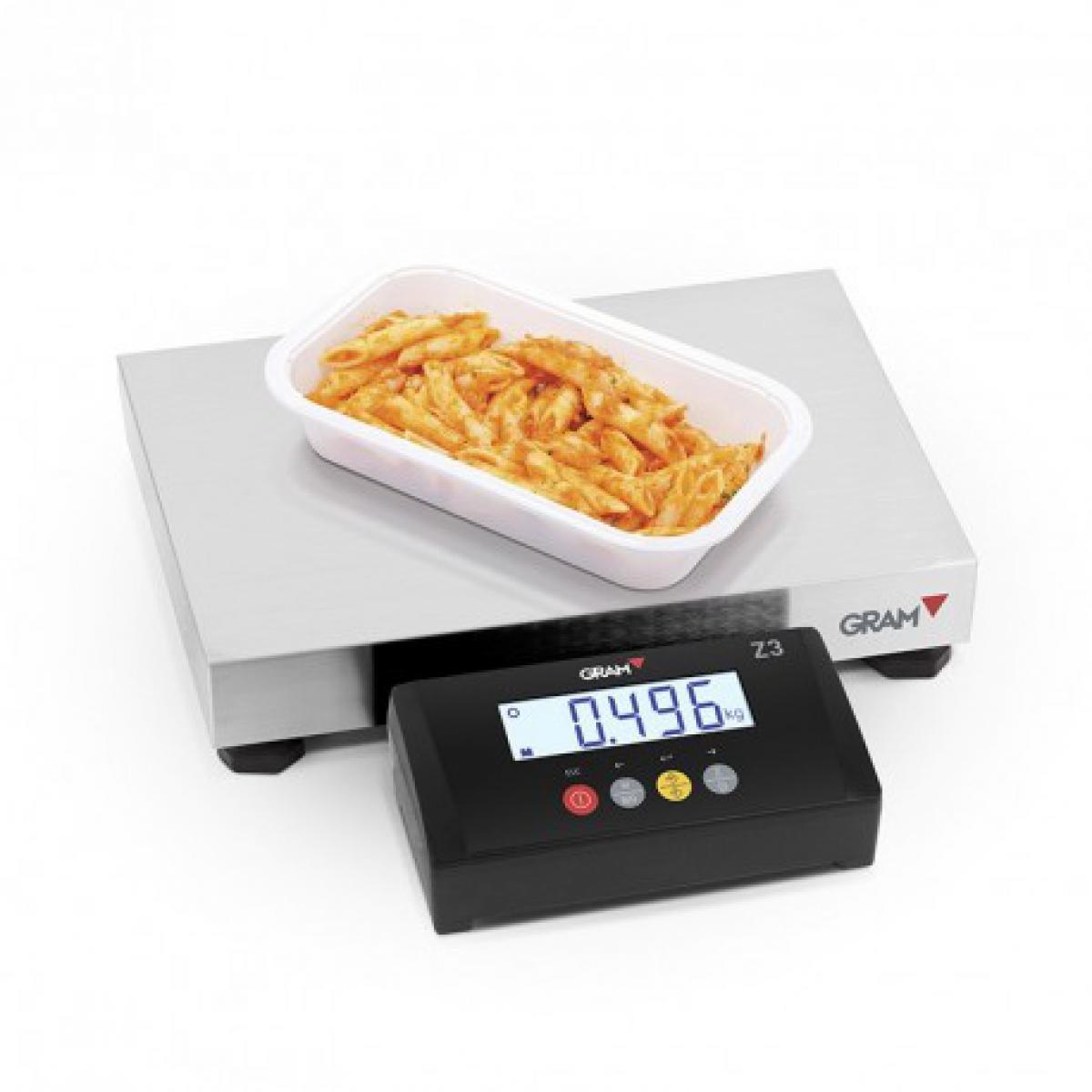 Gram Balance électronique professionnel 60 kg Z3T-F2-60 - Gram - Inox 60 kg
