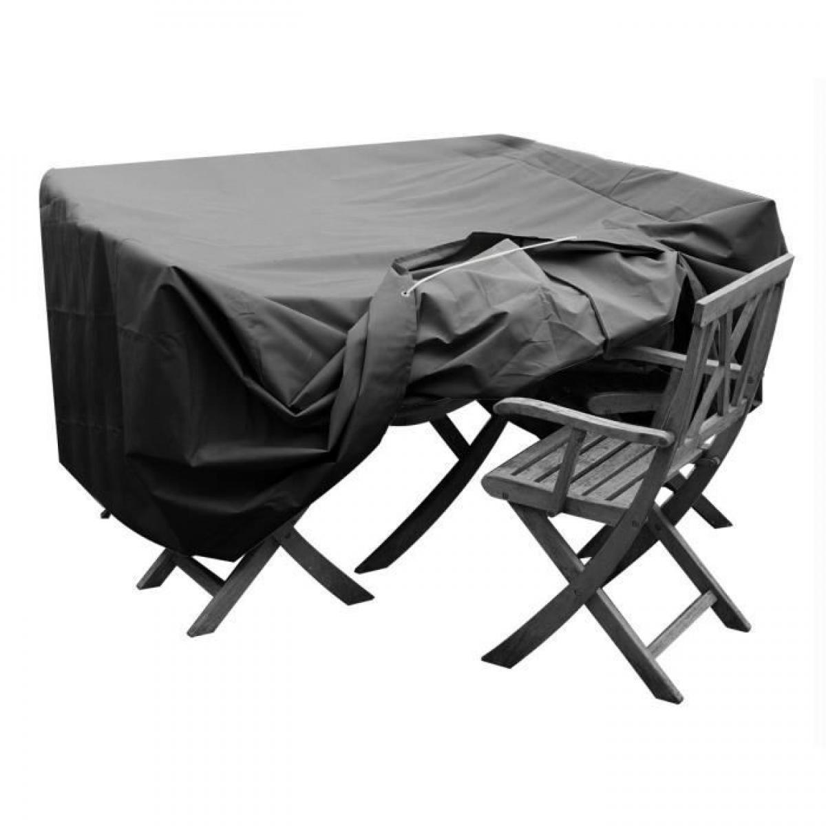 Green Club GREEN CLUB Housse de protection pour salon de jardin table + 4 chaises - 124x124x65 cm