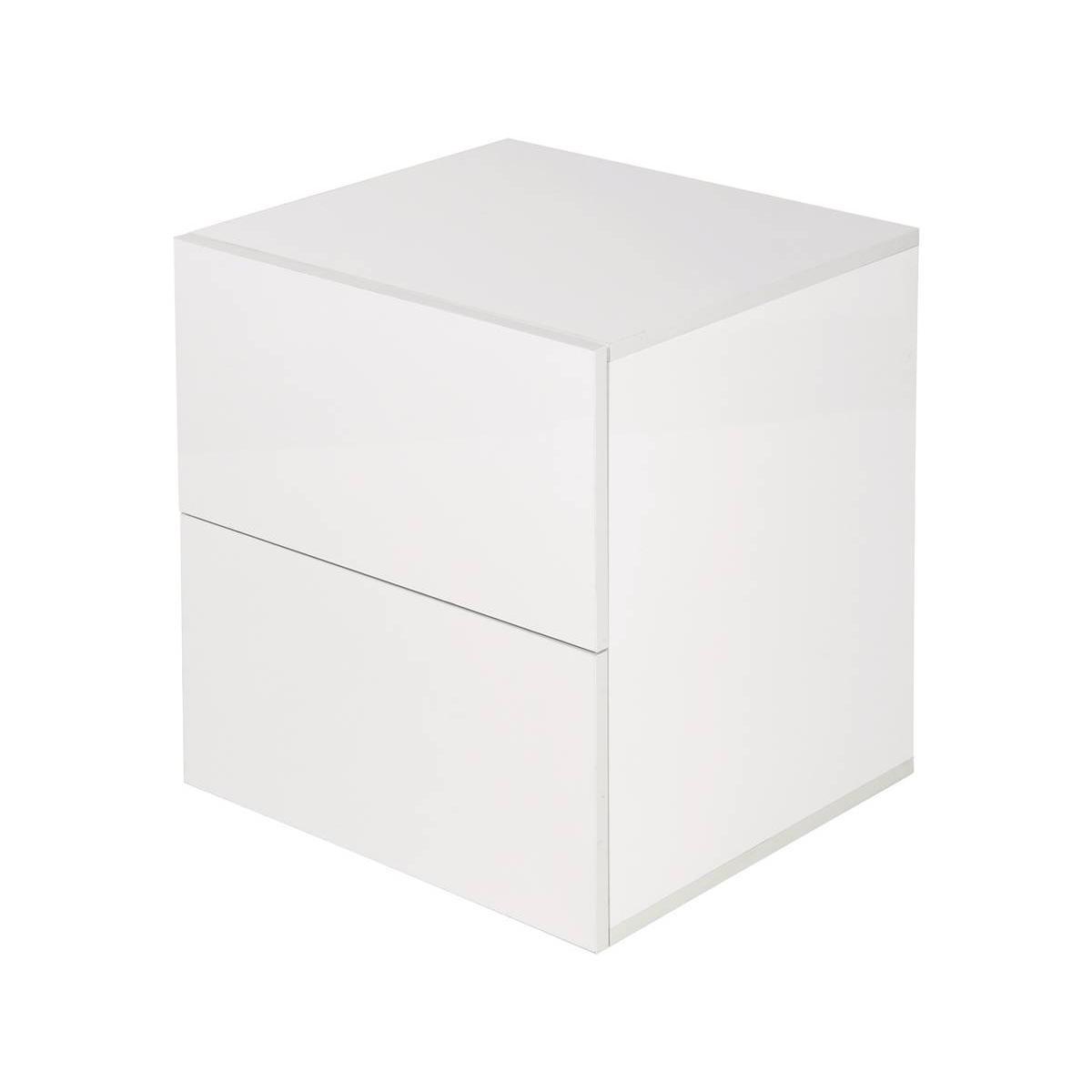 Habitat Et Jardin Chevet Yorick laqué 2 tiroirs - Blanc