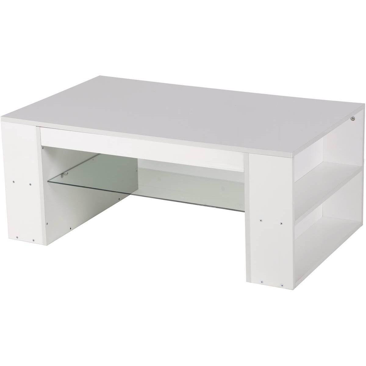 Habitat Et Jardin Table basse Lawson laqué - Blanc