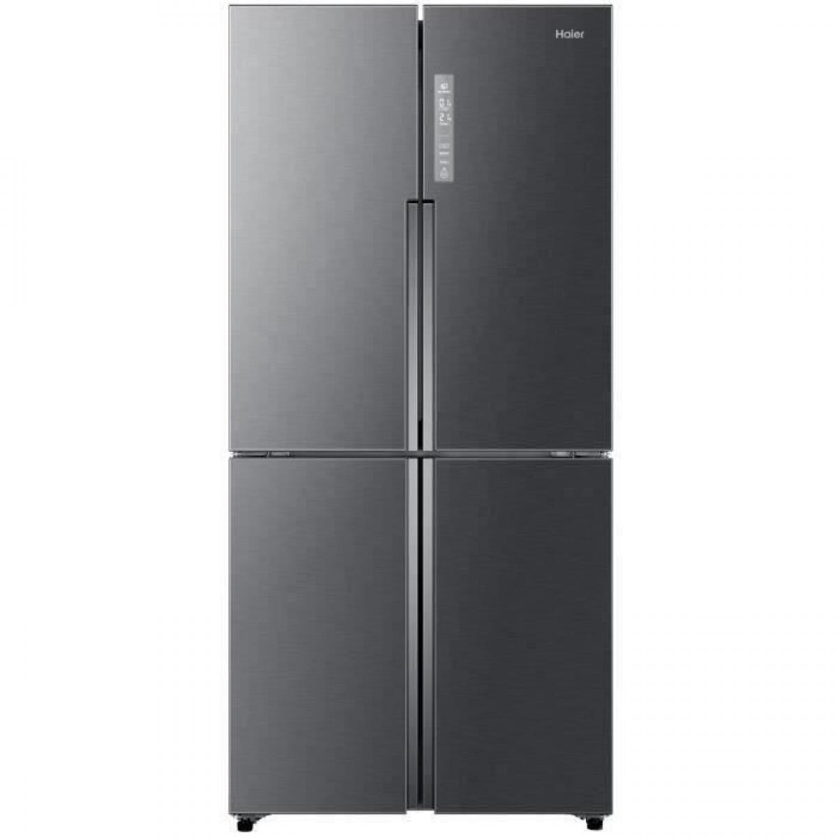 Haier - HAIER HTF-458DG6 - Réfrigérateur multi-portes - 456L (316+140) - Froid ventilé - A+ - L83.3 x H180.4 - Inox