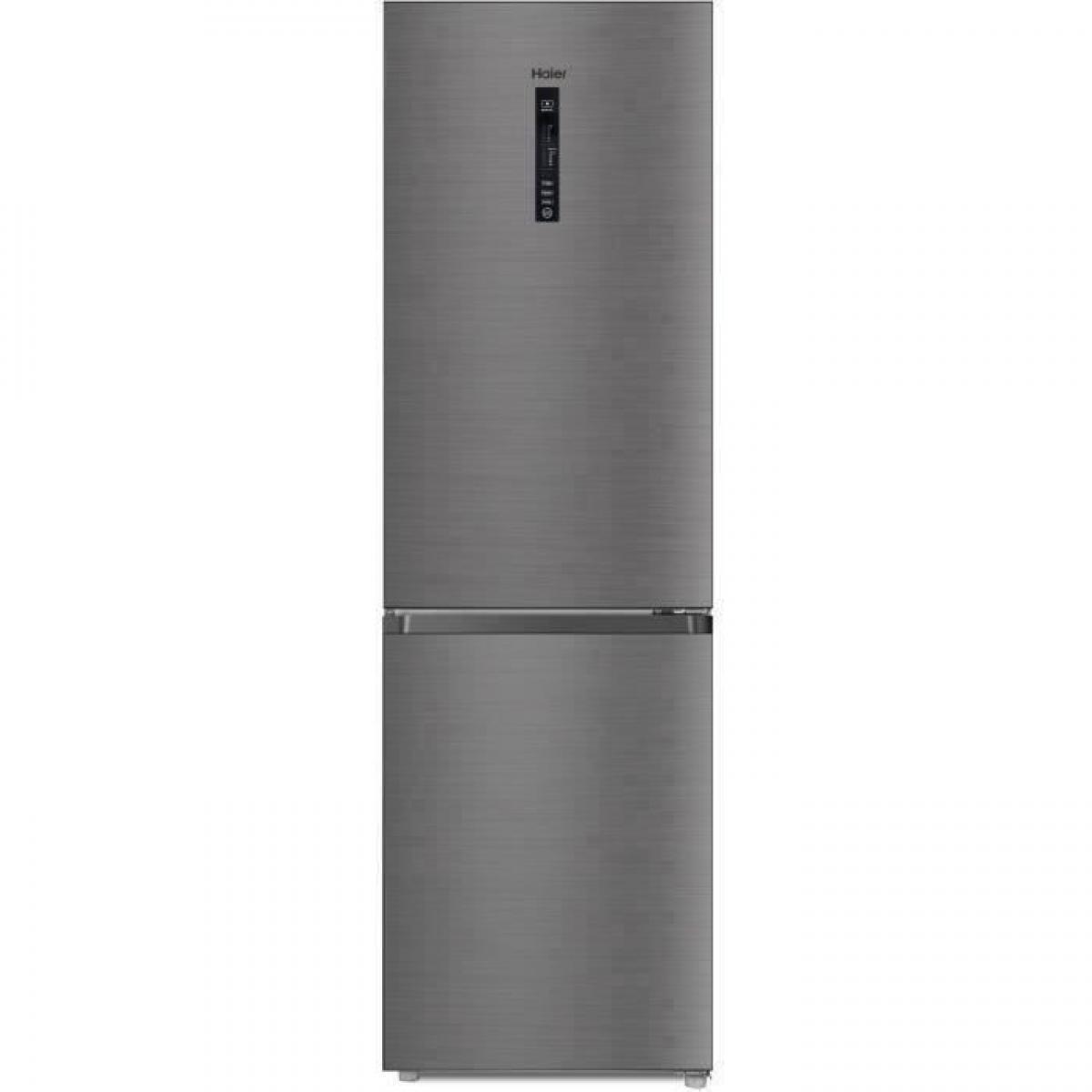 Haier HAIER R2DF512DHJ - Réfrigérateur combiné - No Frost - 341L (233+ 108) - Froid ventilé - A+ - L59.5 x H190 cm - Silver
